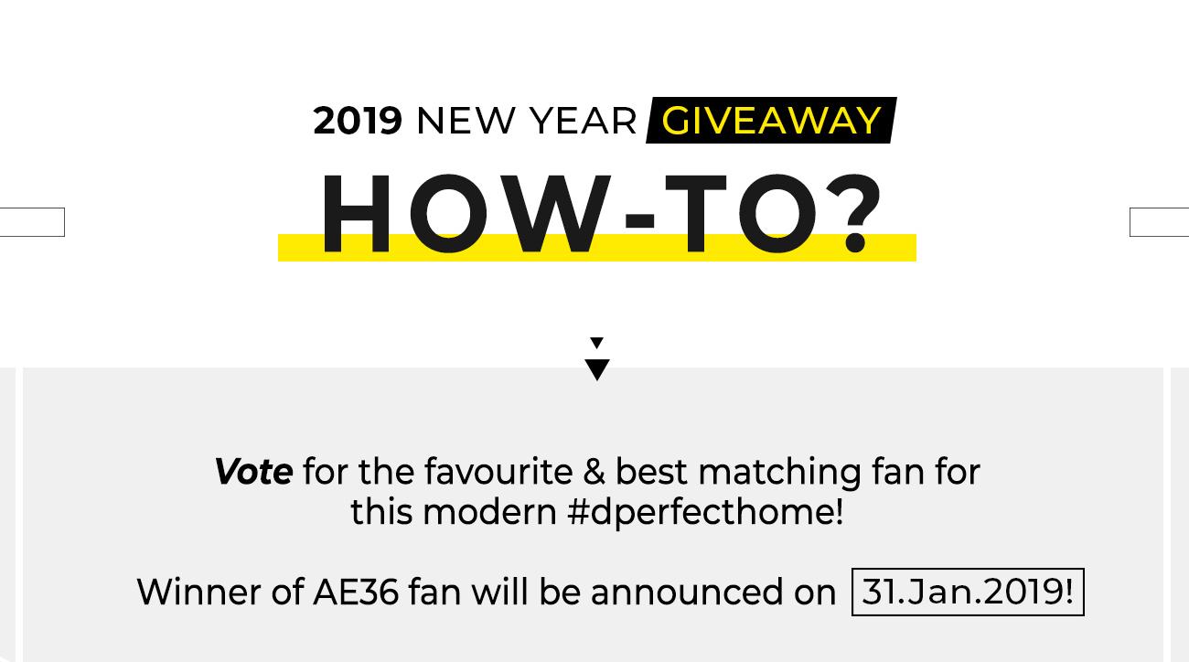 Decor Fan Singapore | 2019 New Year Giveaway - Win #AE36 Fan!